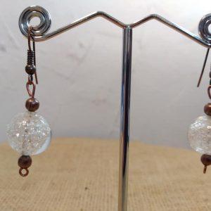 Boucles d'oreilles en verre de Murano et cuivre
