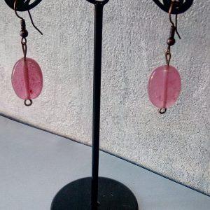 Boucles d'oreilles de verre soufflé de Murano