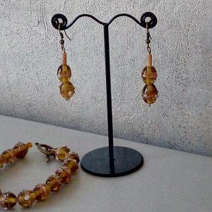 Parure en perles de verre soufflé de murano