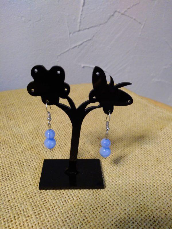 Boucles d'oreilles perles de porcelaine
