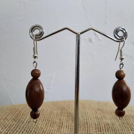 Boucles d'oreilles en bois d'olivier